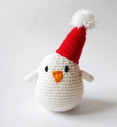 Crocheted Holiday Party Bird hostess christmas gift idea