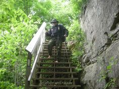 Stairs along the Bruce Trail - 2009