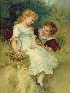 "Frederick Morgan ""Childhood Sweethearts"""