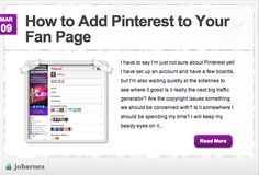 You may like to add your Pinterest boards to your Facebook Page!  We have a very easy way for you to do this and one of our members has very kindly made a video showing you how!  http://www.thesocialnetworkingacademy.com/blog/index.php/how-to-add-pinterest-to-your-fan-page/
