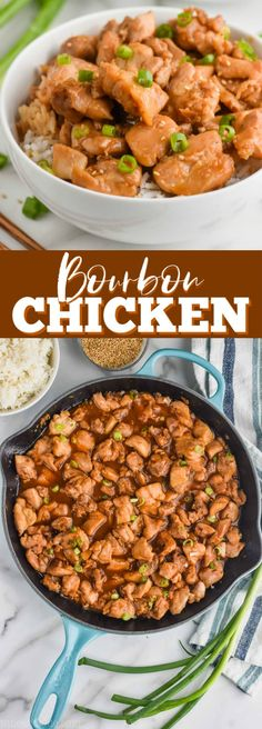 The best bourbon chicken recipe - Cooking Recipes Spicy Recipes, Easy Chicken Recipes, Crockpot Recipes, Cooking Recipes, Recipe Chicken, Drink Recipes, Delicious Recipes, Best Dinner Recipes, Special Recipes