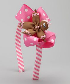 Take a look at this Pink Polka Dot Gingerbread Headband by Picture Perfect Hair Bows on #zulily today!