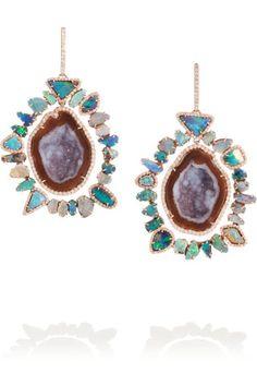 Kimberly McDonald | 18-karat rose gold multi-stone earrings