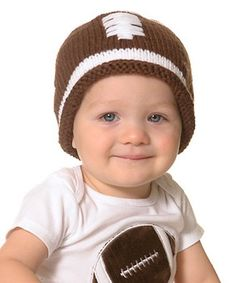 This Brown Football Hat - Infant is perfect!  zulilyfinds e0e4cf3fc71d