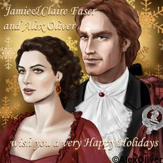 Happy Holidays from Jamie & Claire by Alex Oliver <3