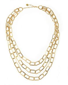 Rectangular-Link Necklace by R.J. Graziano at Last Call by Neiman Marcus.