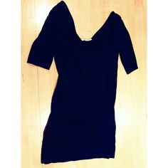 Black Dress or Shirt Long black shirt and or short black dress. Wide neck. Cute with skinny jeans or for a night out as a dress with heels. Never worn Forever 21 Dresses Mini