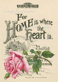 Large digital download Home is where the от CottageRoseGraphics