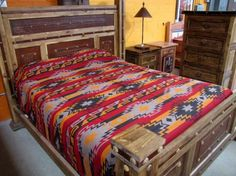 Southwestern Bedding | King Bedspread |Queen Bedspread | Western Bedspread in Red, Black, Gray and Yellow