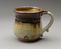 Joel Cherrico Pottery Store - Stoneware Mug with Iron Stain, Reduction Fired (Sku 343), $25.00 (http://store.cherricopottery.com/stoneware-mug-with-iron-stain-reduction-fired-sku-343/)
