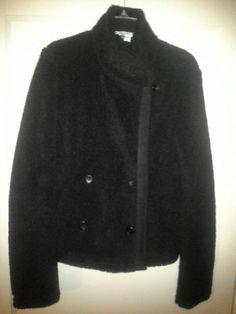 NEW JAMES PERSE Shrunken SHERPA Jacket  Sz 2/M BLACK WTP2944CU $475 #JamesPerse #BasicJacket
