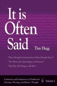 """The """"It is Often Said"""" series by Tim Hegg is a great resource for identifying and correcting several key misconceptions that most mainline, protestant, evangelical Christians have and hold on to without even knowing it."""
