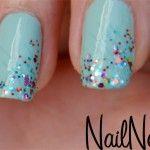 baby blue glitter nail polish