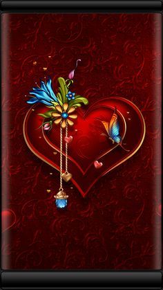 By Artist Unknown. Heart Wallpaper, Purple Wallpaper, Love Wallpaper, Cellphone Wallpaper, Colorful Wallpaper, Wallpaper Backgrounds, Iphone Wallpaper, Heart Pictures, Heart Images