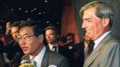 """Image copyright                  AFP                  Image caption                                      Alberto Fujimori derrotó a un escritor en las elecciones presidenciales de 1990: nada menos que a Mario Vargas Llosa. Y el resto es historia.                                Pocas novelas peruanas han sido tan esperadas en los últimos años como """"Contar"""