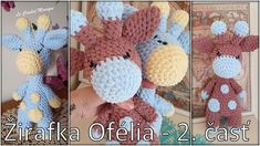 Háčkovaná žirafa Ofélia - časť/Amigurumi Giraffe Ofelia - part 2 (eng. Crochet Toys, Giraffe, Crochet Necklace, It Cast, Youtube, Amigurumi, Animales, Felt Giraffe, Giraffes