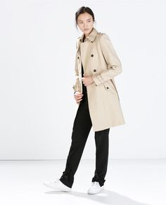 Image 2 of COTTON TRENCH COAT from Zara