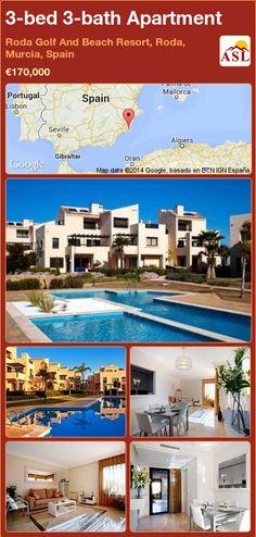 3-bed 3-bath Apartment in Roda Golf And Beach Resort, Roda, Murcia, Spain ►€170,000 #PropertyForSaleInSpain