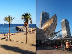 Am Strand in Barcelona