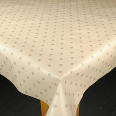 Cream & Beige Dotty Wipe Clean Tablecloth by Karina Home 200cm x 137cm: Amazon.co.uk: Kitchen & Home