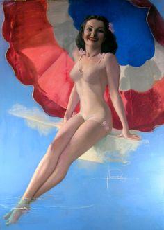 patriotic pinup 1944