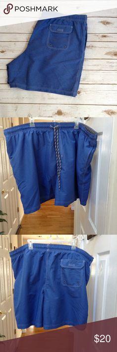 "✨Men's Big & Tall Croft & Barrow Swimwear✨ NWOT ✨Soft Microfiber Construction ✨Interior Mesh Lining✨3 Pockets w/ bonus small hidden inside pocket✨Classic Fit✨Elastic Waistband ✨Approx 7.5"" Inseam ✨ (B1) Croft & Barrow Swim Swim Trunks"