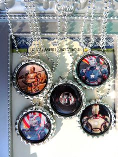 Iron Man 3 Inspired Party Pack Necklaces Set by Missyslilboutique, $18.50