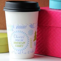 BABY IT'S COLD Outside Cup Sleeves  Custom by BushelandPeckPaper
