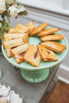 Pin for Later: Feast Your Eyes on 40 Gorgeous Food Ideas For Spring Weddings  Does it get any cuter than homemade Pop-Tarts on a pretty dish?
