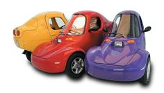Three wheeled cars. Do these remind you of the movie Cars?