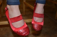 Shoe Redo- Modge Podge Glitter over worn out toes