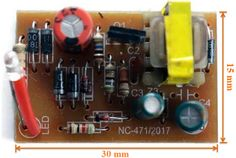 5V/800mA Switch Mode Power Supply (SMPS) Module PCB Switched Mode Power Supply, Power Electronics, Led