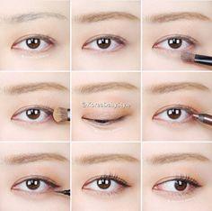 8 Steps To Achieve Perfect Eye Makeup – Makeup Advice Korean Image, Korean Natural Makeup, Asian Makeup, Korean Make Up, Korean Style, Korean Beauty Tips, Makeup Pictorial, Korean Makeup Tutorials, Eye Liner Tricks