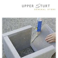 Make planter out of cement squares. I like the look of LARGER scale planters, but ona shoe string budget. I plan to make this base for a smaller urn planter I picked up and paint them to match so they look like they were meant to be togther. It will give me the added height I want for a lot less money.