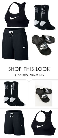 """""""basketball"""" by jadakins ❤ liked on Polyvore featuring NIKE"""