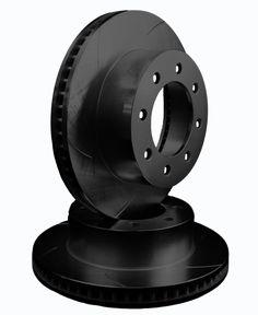 ATL Autosports Performance Brake Rotors Rear Pair Fits 2014 GMC Savana 3500 ATL55057-86SOBZ, Black