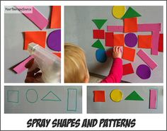 Spray Shapes and Patterns helps with hand strengthening, wrist extension.Use vertical surfaces! Montessori Activities, Therapy Activities, Kindergarten Activities, Activities For Kids, Everyday Activities, Motor Activities, Therapy Ideas, Preschool Ideas, Ot Therapy