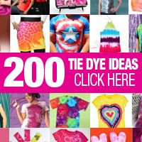 200 Tie Dye Ideas. You know you wanna see these awesome ideas!! #tiedye
