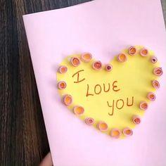 Valentines Day Cards Handmade, Valentine Greeting Cards, Greeting Cards Handmade, Homemade Cards For Men, Homemade Birthday Cards, Romantic Cards, Romantic Gifts, Creative Mother's Day Gifts, Birthday Cards For Boyfriend