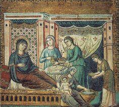 La Naissance de la Vierge – Pietro Cavallini (v. 1291)