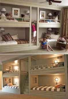 Amazing idea for extra beds that doesn't take up the whole room!