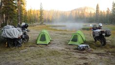 Utah BDR - motorcycle camping at high elevation along the UTBDR