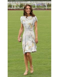 Take a cue from Kate and wear a soft, muted floral to your next summer party.