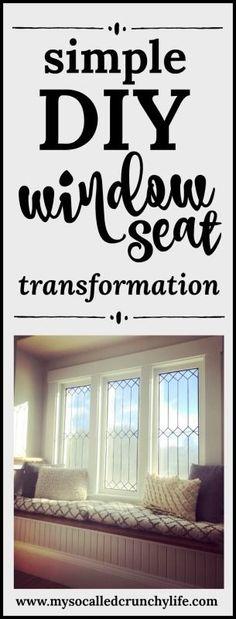 DIY Window Seat Update #farmhouse #windowseat #homedecor