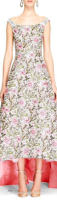 Oscar de la Renta ~ SS 2014, Embellished Floral Brocade Gown | Thea ᘡղbᘠ
