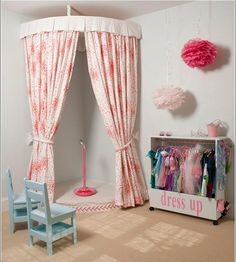 Dress up Corner Kids Playroom: How to Create a Space Thats Fun yet Functional Playroom Stage, Toddler Playroom, Kids Stage, Children Playroom, Attic Playroom, Play Room For Kids, Stage Play, Small Kids Playrooms, Boys Playroom Ideas