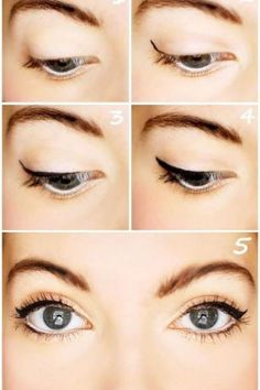 kitten eye makeup.
