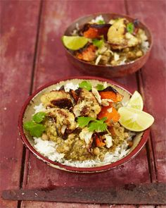 Turn this recipe from chef Jamie Oliver into a tasty low sodium delight, while saving on prep time! Just use Mr. Spice no-salt Indian Curry Sauce (http://mrspice.com/sauce/) instead of the curry sauce the original recipe includes. You'll cut out excess time AND sodium!