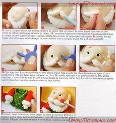 "МК лепка ""Санта"" -Gumpaste (fondant, polymer clay) Santa figure making tutorial - Мастер-классы по украшению тортов Cake Decorating Tutorials (How To's) Tortas Paso a Paso"