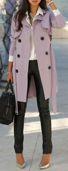 Lavender Trench Coat